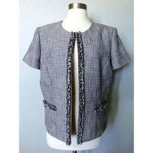 Tahari Size 14 Tweed Jacket Blazer Coat by Levine